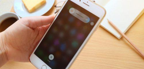 iPhone экран отключения устройства