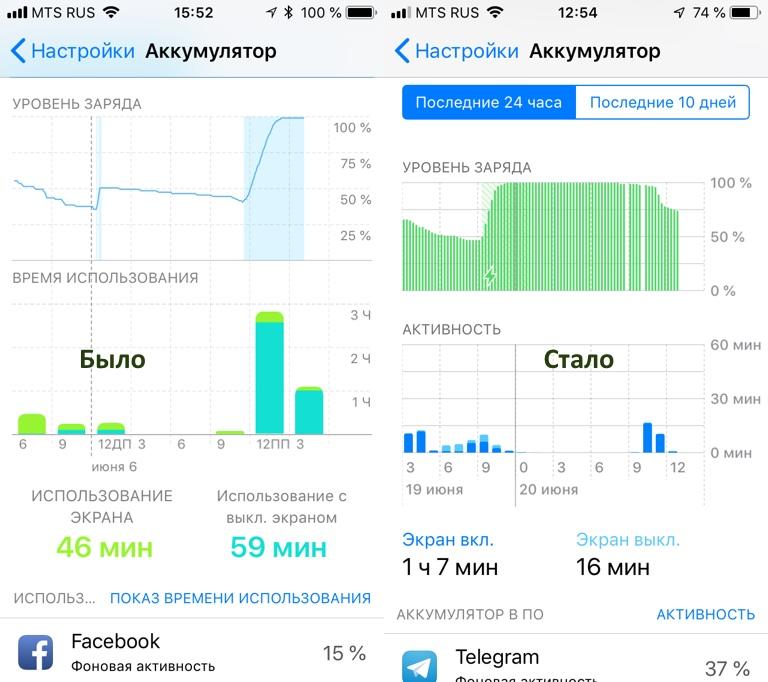 iOS 12 кумулятор