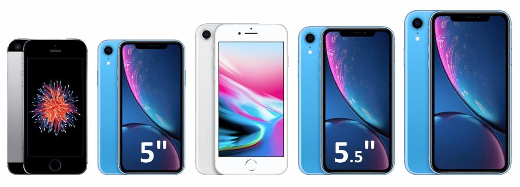 Гипотетический iPhone с экраном 5 и 5.5 дюймов