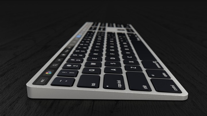 Apple touch bar keyboard