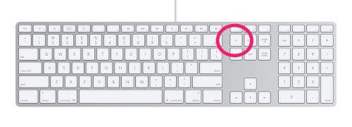 Клавиша Fn на внешней алюминиевой клавиатуре Apple