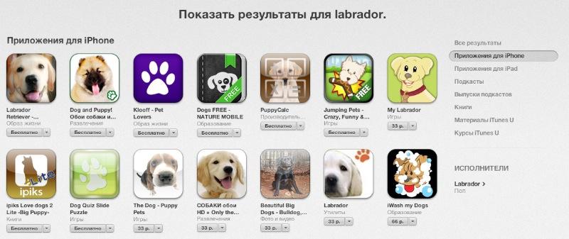 Appstore labrador