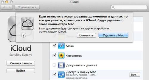 Icloud delete documents