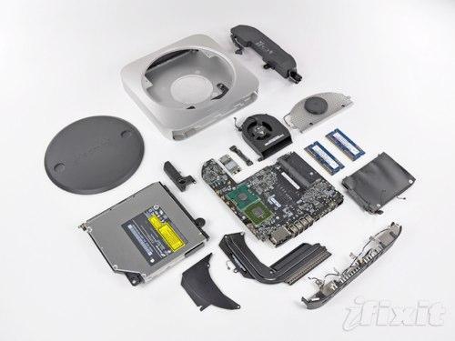 Разборка Mac mini 2010