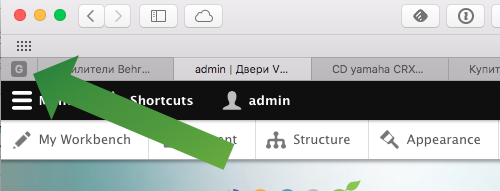 Safari sticky tab